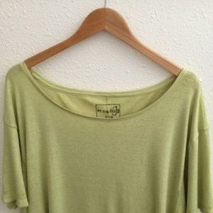 Free People Tops - Free People Oversized Tee Light Green Size Small